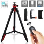 ZOMEI T60 Portable Aluminum DSLR Phone Adjustable Travel Camera Table Camera Tripod with Ball Head