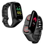 LEMFO M1 2 in 1 IP67 Waterproof Smart Watch with Bluetooth Earphone – Black
