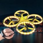 Children Aircraft LED Lighting Quadcopter Drone Gravity Sense Four-Axis Smart Watch Toy Remote Control [14 People Operation]