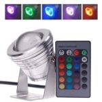 Waterproof 10W RGB LED Underwater Spot Light with Remote Control