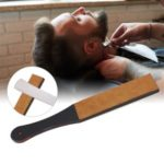 Leather Sharpening Strop Shaving Strap for Men Barber Straight Razor Folding Knife Sharpener Belt