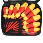 10Pcs/Set 1000V Insulated Screwdriver Set [with Magnetic Slotted and Phillips Bits] Electrical Work Repair Tools