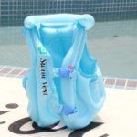 Kid Safety PVC Float Inflatable Life Jacket – Blue / Size: L