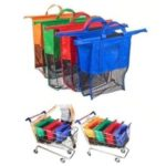 4Pcs/Set Thicken Supermarket Shopping Cart Trolley Grocery Grab Storage Bags