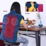 Flannel Neck Shoulder Relief Wrap Back Muscles Pain Relief Pad – Blue / EU Plug
