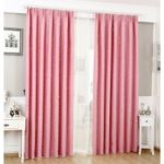 Star Pattern Curtain Bedroom Curtain Living Room Window Curtain with Hooks, Size: 100 x 135cm – Pink