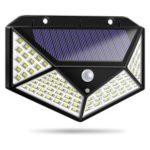 100-LED Human Body Induction Wall Courtyard Solar Light (1200 Capacity Three Functions)