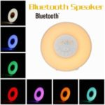 Digital LED Wake Up Light With FM Radio Alarm Clock Bluetooth Speaker