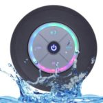Mini Bluetooth Portable Waterproof Wireless Hands-free Speakers with LED Light Subwoofer – Black