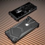 R-JUST Panther Magnetic Shockproof Aluminum Alloy Phone Shell for iPhone XS 5.8 inch (Built-in Magnetic Metal Sheet) – Black