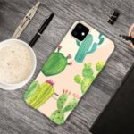 Cute Pattern Printing Flexi TPU Phone Shell for iPhone (2019) 6.1-inch – Cactus