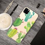 Pattern Printing Clear TPU Cell Phone Casing for iPhone (2019) 6.5-inch – Cactus