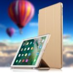 Auto-wake/sleep Tri-fold Stand PU Leather Tablet Case for iPad Air (2013) – Gold