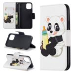 Pattern Printing PU Leather Wallet Stand Phone Cover for iPhone XS 5.8 inch – Baby Panda