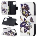 Pattern Printing PU Leather Wallet Stand Phone Cover for iPhone XS 5.8 inch – Butterflies and Flowers