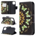 Pattern Printing PU Leather Wallet Stand Phone Cover for iPhone XS 5.8 inch – Butterflies
