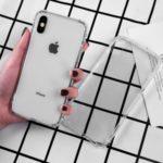 LEEU DESIGN 6D Conversion Hole Clear Glass + TPU Hybrid Back Case for iPhone XS/X 5.8 inch – Transparent