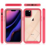 Shockproof Drop-proof Polycarbonate + TPU Hybrid Case Shell for iPhone (2019) 5.8-inch – Red