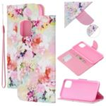 Pattern Printing Wallet Leather Case with Strap for iPhone (2019) 6.5-inch – Colorized Flowers
