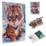 Marble Pattern Printing Wallet Leather Stand Case for iPad Air 10.5 inch (2019) – Tiger