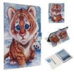 Marble Pattern Printing Wallet Leather Stand Case for iPad 2/3/4 – Tiger