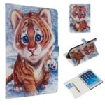 Marble Pattern Printing Wallet Leather Stand Case for iPad 9.7-inch (2018)/Air (2013)/Air 2 – Tiger