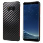 Detachable 2-in-1 Metal+Aluminium Alloy Electroplating Case for Samsung Galaxy S8 – Red