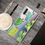 Cute Pattern Printing Soft TPU Protective Back Case for Samsung Galaxy Note 10 – Cactus