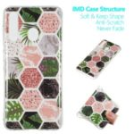 Marble Pattern IMD TPU Protection Case for Samsung Galaxy A60 – Style A