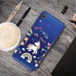 Pattern Printing Clear TPU Cell Phone Cover Case for Samsung Galaxy A40 – Unicorn
