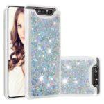 Dynamic Glitter Powder Sequins TPU Back Phone Casing for Samsung Galaxy A90 / A80 – Silver