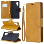 Jeans Cloth PU Leather + TPU Wallet Casing for Samsung Galaxy Note 10 Pro – Brown
