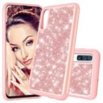 Shiny Glittery PC Back + TPU Frame Phone Shell for Samsung Galaxy A50 – Rose Gold