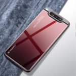 Gradient Color Tempered Glass + PC + TPU Hybrid Case for Samsung Galaxy A80/A90 – Red