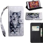 Printing Style Light Spot Decor Leather Wallet Phone Cover for Samsung Galaxy Note 10 – Cat