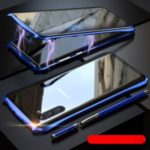 Bat Style Magnetic Installation Metal Frame + Tempered Glass Alll-side Protective Shell for Samsung Galaxy Note 10 – Blue