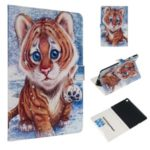 Marble Series Pattern Auto Wake & Sleep Leather Phone Case for Samsung Galaxy Tab S5e SM-T720 – Tiger