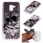 Animal Series Patterned IMD TPU Case for Samsung Galaxy J6 (2018) – Cat Wearing Glasses