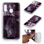 Animal Series Patterned IMD TPU Case for Samsung Galaxy A20e – Cat and Reflection in Water