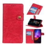 Crazy Horse Texture PU Leather Stand Wallet Case for Sony Xperia 20 – Red