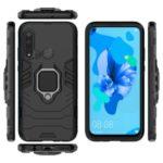 Cool Guard Ring Holder Kickstand PC TPU Hybrid Case for Huawei P20 lite (2019) / nova 5i – Black