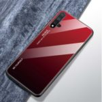 Gradient Color Glass + TPU Hybrid Case for Huawei Nova 5 / Nova 5 Pro – Red / Black