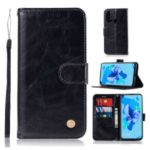 Premium Vintage Leather Wallet Stand Case for Huawei P20 lite (2019) / Nova 5i – Black