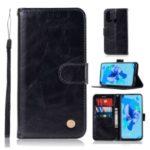 Premium Vintage Leather Wallet Stand Case for Huawei P20 lite (2019) / Nova 5i – Black