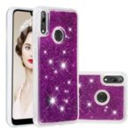 Dynamic Glitter Powder Sequins TPU Phone Shell Cover for Huawei Y7 (2019) / Y7 Prime (2019) – Purple