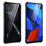 Metal Frame + Glass Back Phone Shell Casing for Huawei nova 5 / nova 5i – Black
