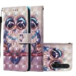 Printing Style 3D Series Leather Wallet Phone Case Cover for Huawei Honor 20 – Owl