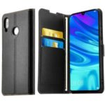 ELESNOW Stand Wallet Leather Phone Cover+Tempered Glass Screen Protector for Huawei P Smart+ 2019/Enjoy 9s