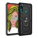 Hybrid PC TPU Kickstand Armor Phone Case for Huawei P Smart Z – Black