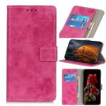 Vintage Style Leather Wallet Phone Case with Stand Cover for Huawei Honor 9X Pro – Rose